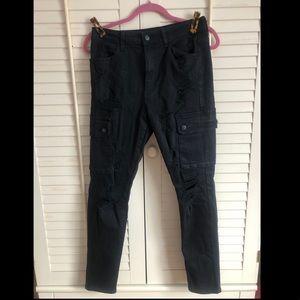 Skinny cargo pocket jeans